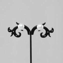 Coppia Orecchini 10+ mm bianchi